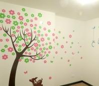 árbol con flores y nombre