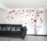 árbol hojas al viento
