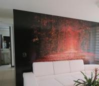 foto mural adhesivo decorativo arboles flores