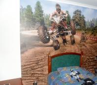 foto mural infantil motos, cuatrimotos