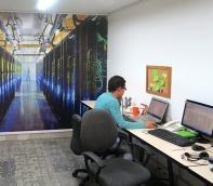 foto mural servidores tecnologia computadores