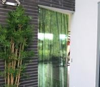 puerta bambú