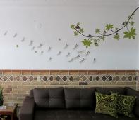 vinilo árbol libélulas medellin arte mas vinilo