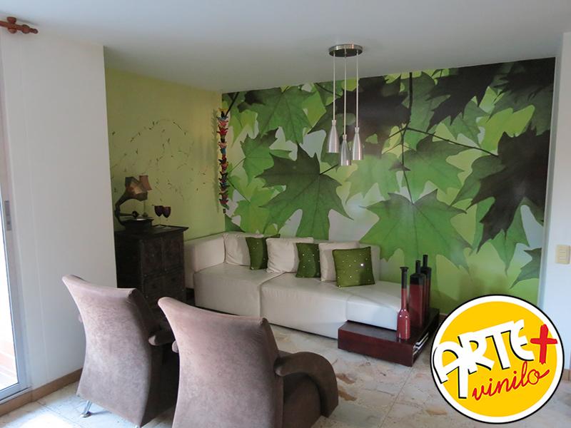hojas de arboles, decorativos murales