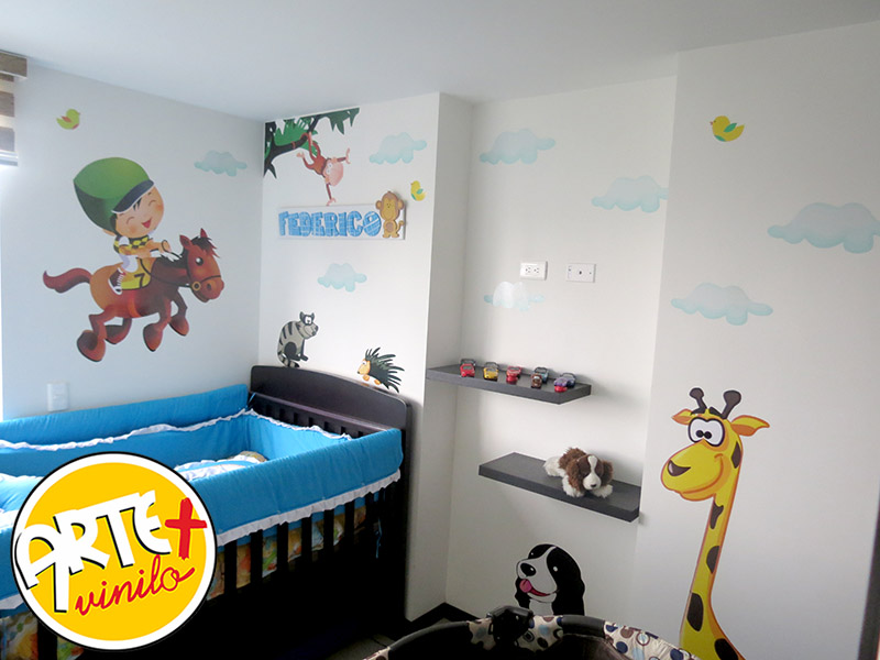 safari zoo infantil adhesivos decorativos arte mas vinilo medellin